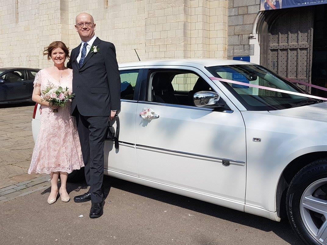 Chrysler Saloon Norwich Castle Wedding www.silverlinelimousines.com
