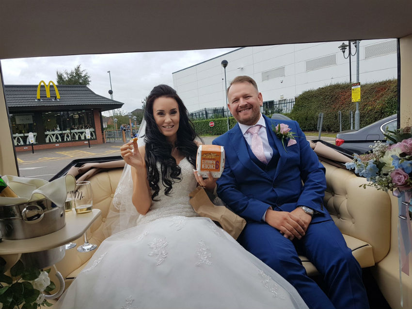 Imperial wedding stop at Mcdonalds