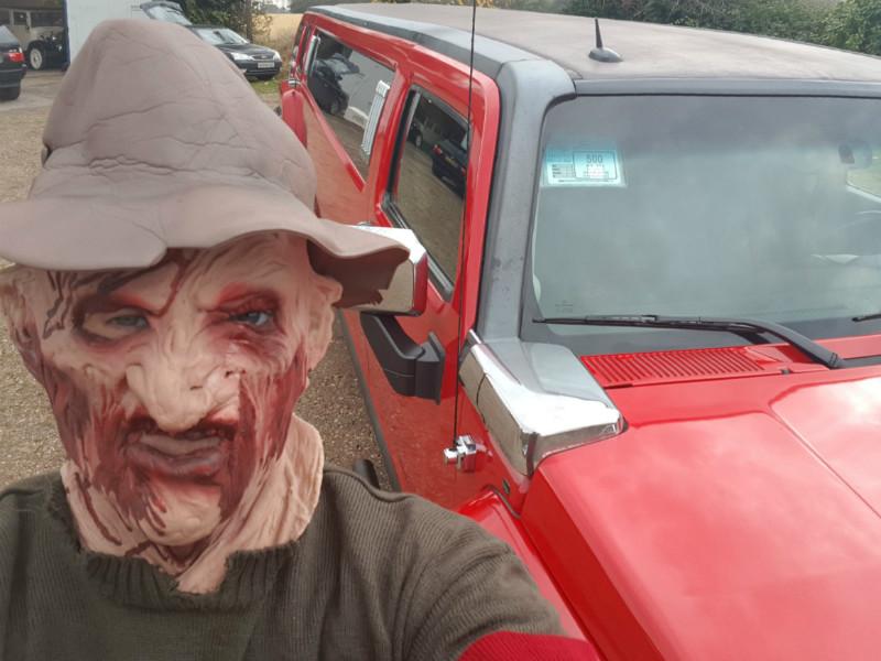 Hummer limousine safe return after halloween experience
