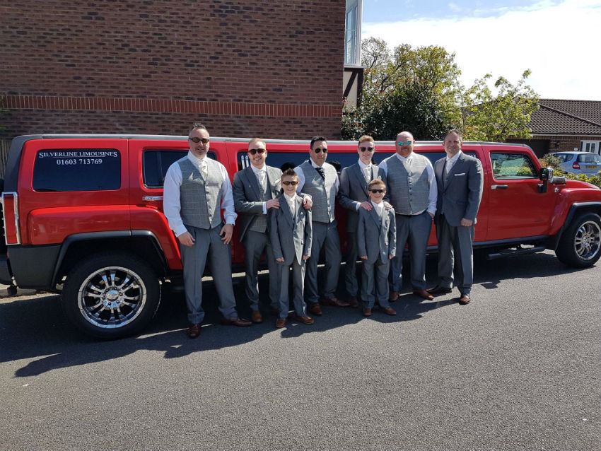 Hummer Limousine for grooms parties